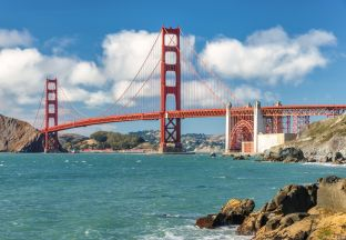 Golden Gate Bridge San Francisco Flughafen