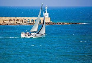 Segelboot Faro Flughafen