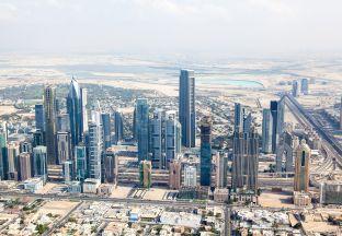 Skyscrapers Dubai Flughafen